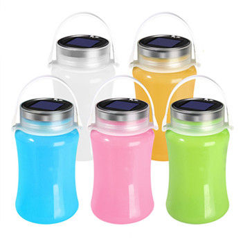 Portable Solar Rechargeable Silicone Bottle Led Light