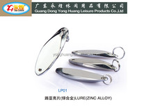 10-15-20-25G Plating Oval type fishing weight zinc alloy die casting