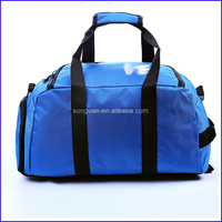 Large capacity portable sports travel duffel bag with shoe compartment