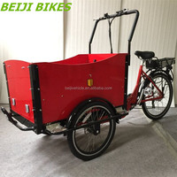 3 wheel family electric tricycle cargo bikes velo electrique pour heavy duty