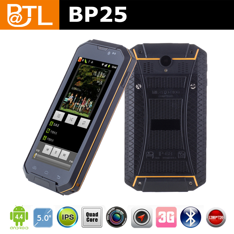 BATL BP25 MTK6582 quad core 1GB+8GB Corning Gorilla III galss ip68 smart phone a9 land rover a9