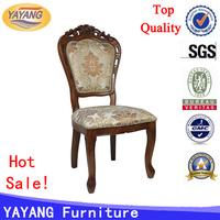 Factory manufacturer hand carved comfortable backrest dining French oak hotel antique high back chairs