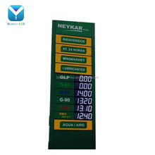 Outdoor led gas price sign waterproof standing pylon sign for petrol station