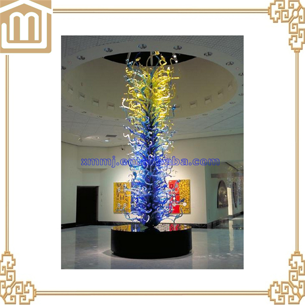 Decorative Blown Murano glass plates hanging restaurant ceiling decoration
