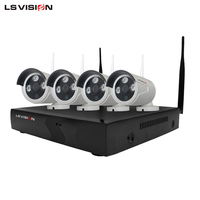 LS VISION 2mp wifi nvr kit 1080p ip camera kit day night vision wireless cctv camera