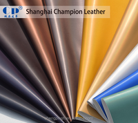 Factory Ecological Recycled Foiled Microfiber Fabric Highlight Leather for Bags