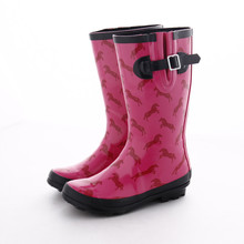 Customize women welly rain boots unisex rain boots with colorful custom printing