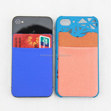 wholesale felt adhesive smart wallets for cell phone