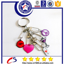 All types of cheap custom fashion paint metal 3d keychain