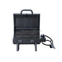 Stainless steel barbecue grill with U-shaped burner