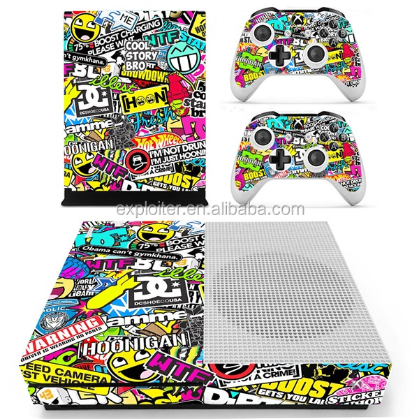 Factory brand 3m vinyl games decoration for xbox one s sticker skin