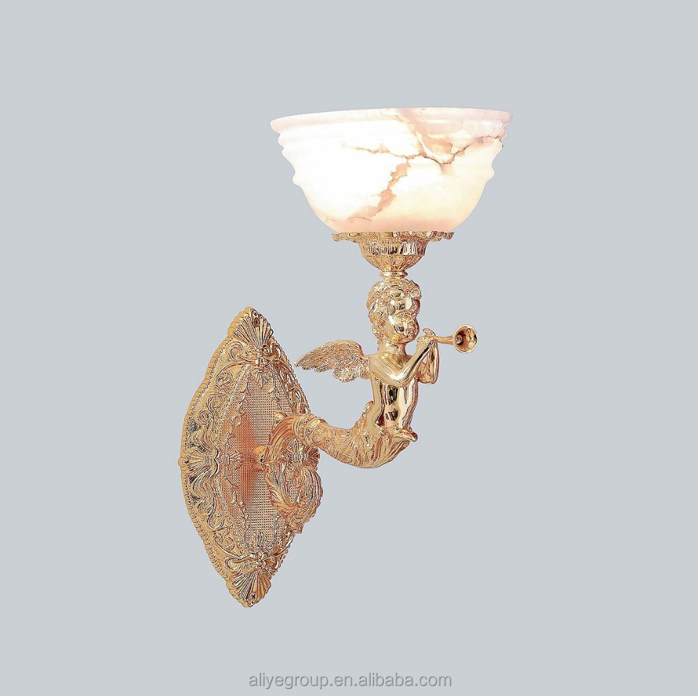 Cupid shape garden wall lamp in golden color HB-119