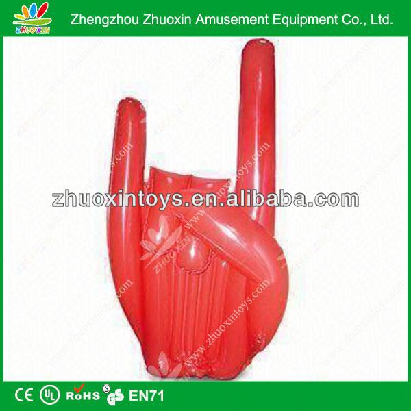 Popular used commercial cheap inflatable promotional hand