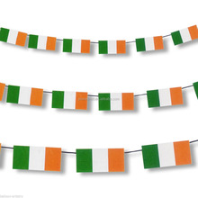 3.3m St. Patrick's Day Irish National Flag Pennant Banner Decoration