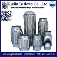 Ruian Rudin 1 inch stainless steel flexible exhaust pipe ( connecting with exhaust muffler)
