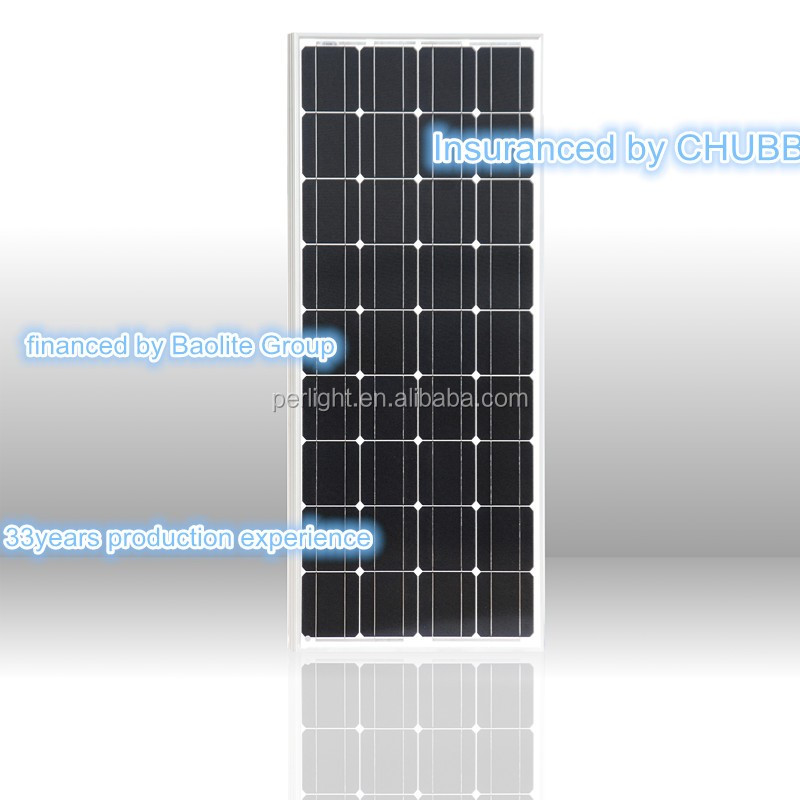 Best quality efficient 100w 100 watt mono PV solar panel with 36 solar cells