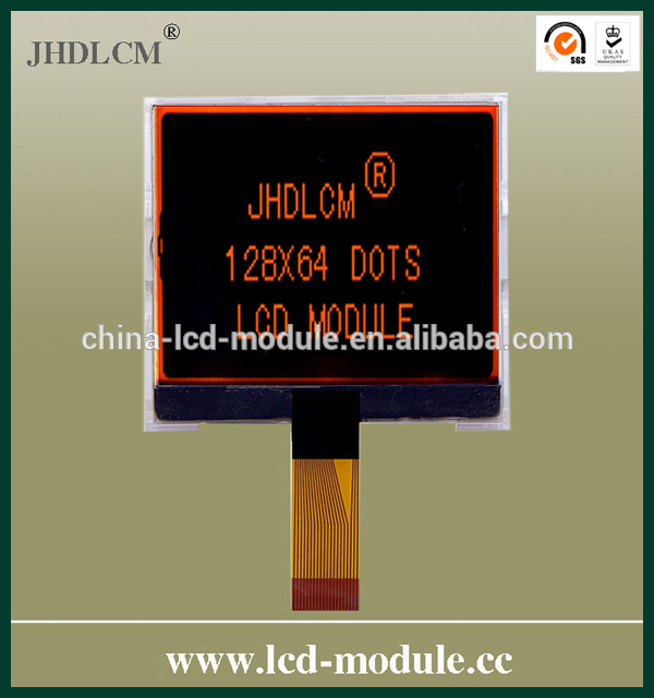 transparent lcd display JHD12864-G66BSC-BL