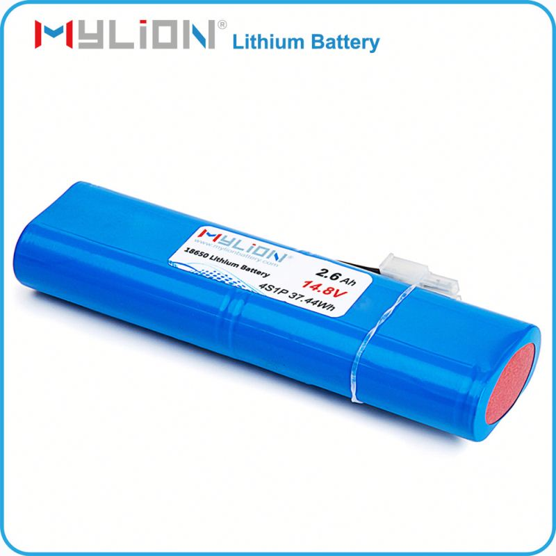 Rechargeable 18650 2.6ah capacity 14.8 volt rechargeable battery pack