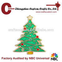 Hot sale christmas tree metal pin customized