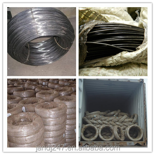 Black soft annealed binding wire for baling and construction