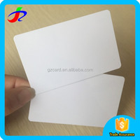 2016 alibaba factory clear credit card size ID white blank plastic pvc cards