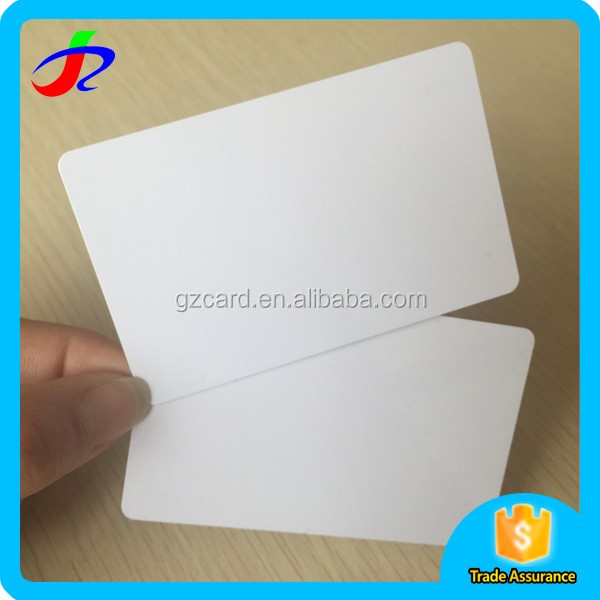 2017 alibaba factory clear credit card size ID white blank plastic pvc cards