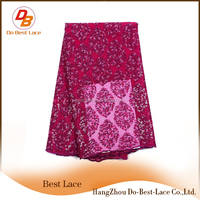 Low MOQ Custom Lace Fabric For Muslimah Lace Dress