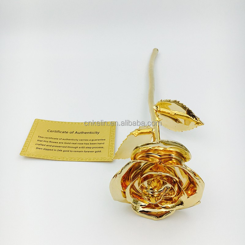 Creative Dating Flower Gift 27cm 24K Gold Real Rose Gifts for your Lovely Girl