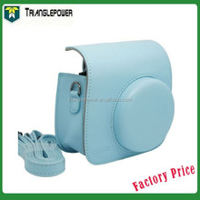 2015 Newest Blue Color Fujifilm Instax Mini8 Camera Case Bag , PU Leather
