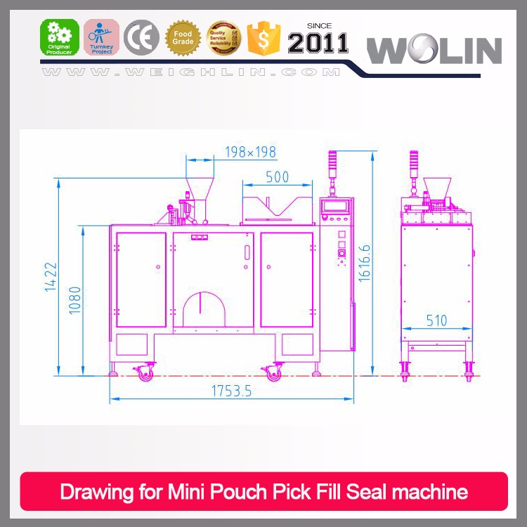 Factory Supply Mini Doypack Packing machine line Liquid, sauce, shampoo, fruit juice auto fill seal in premade performed pouches