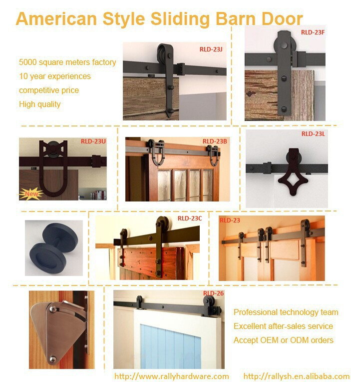 6.6FT Sliding Barn door Sliding Door Hardware Antique