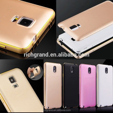 Slim aluminum metal bumper PC back cover case for Samsung galaxy note 2/3/4 s4 s5