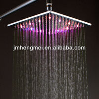 Fashion 10 inches square air shower nozzle top shower led