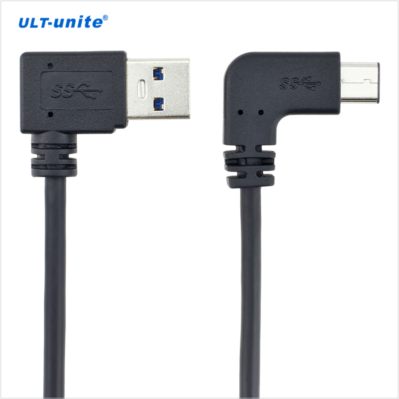 Left Right Angle USB-C Cord USB 3.1 Gen1 Type C to 90 Degree USB 3.0 Type A Cable