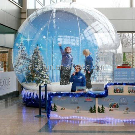 Durable material long lifetime 4M,5M, christmas inflatable snow globe for advertisement promotion on sale