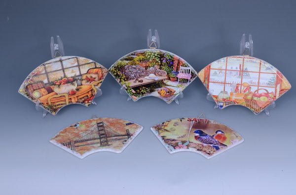 China supplier durable ceramic coaster with cork bottom