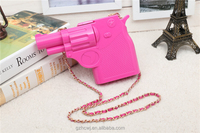 newest style lady acrylic clutch purse,handgun shaped fancy clutch purse supplier