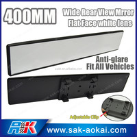 Anti-Glare 400mm Wide Flat Clip On Car Rearview Mirror