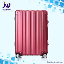 high quality aluminum hard case multi-color luggage bags travel trolley suitcase manufacturer low price