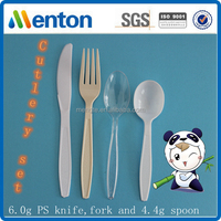 2016 6.0g PS custom disposable plastic cutlery including fork,knife and spoon