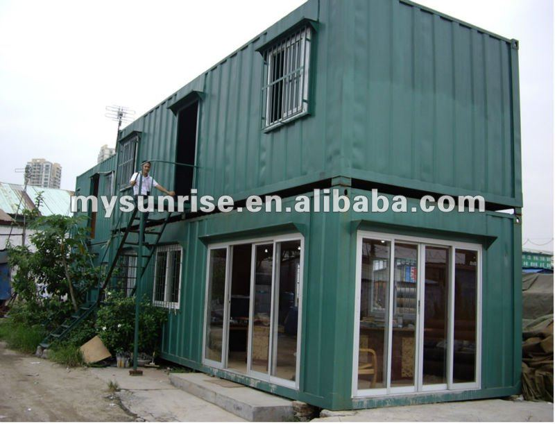 Green vintage Fashion Container House mobile home