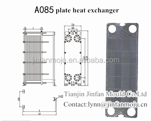 A085 Plate For Apv Plate Heat Exchanger Spare Parts For Brewing Gas And Water Swimming Pool Oil