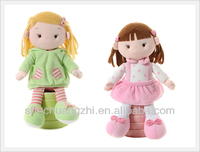 Cute plush little Rag Girl baby Doll soft stuffed toys for kids