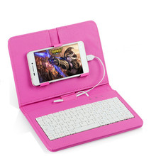 Universal Mobile Phone Pu Leather Smartphone Keyboard Case For Iphone 5 6 7 s6/s7/s8 P8 P9 R9 For Andriod Samsung