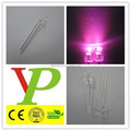 high quality 3mm 5mm pink color round led emitting diode
