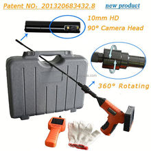 Sewer inspection camera with text keyboard and recorder maximum 32GB SD card