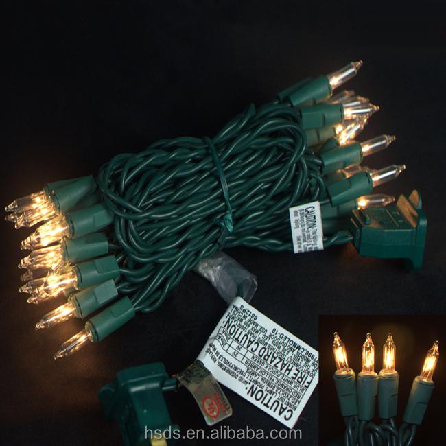 Ul Traditional Mini Incandescent Clear Bulb Christmas String Lights - Buy Incandescent Christmas ...