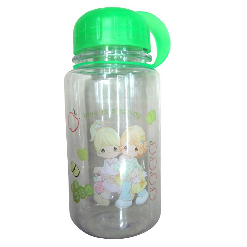 Wide mouth durable plastic water bottle BPA free 20 oz