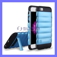 2 in 1 Soft Stand Holder ShockProof Case For iPhone 6 Phone Case