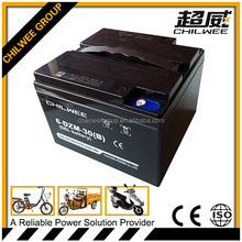 12v30Ah@2HR 6-DZM-30B Rechargeable lead acid electric bike battery